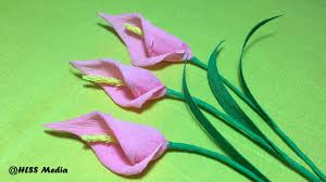 callalily flower how to make origami craft paper calla flower calla crepe