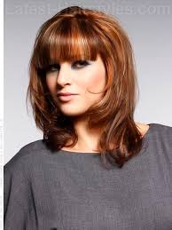 medium hairstyles with bangs for women who are overweight medium layered hairstyles with bangs cute hairstyle ideas for