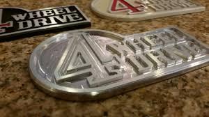 lexus lx450 emblems aluminum retro u201c4 wheel drive badge u201d bh3d printing