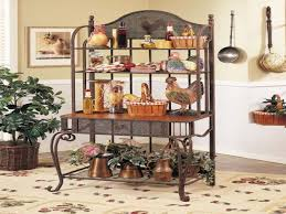 Outdoor Bakers Rack Wrought Iron Kitchen Shelving Bakers Rack With Storage Cabinets With