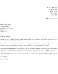 Sample Resume For Warehouse Picker Packer Picker Packer Job Application Cover Letter Example Forums