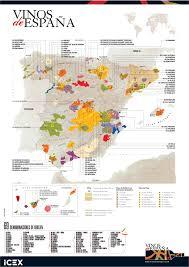 Dia Map El Mapa De Las Denominaciones De Origen De Los Vinos De España