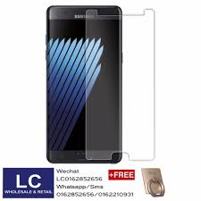 galaxy note fan edition high grade tempered glass galaxy note fe fan edition clear