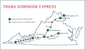 Virginia Railway Express Map by Transdominion Express Wikipedia