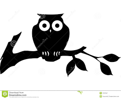 black cartoon owl royalty free stock photography image 7287647