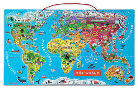 travel world map travel the magnetic world map wooden puzzle from janod fluxlings