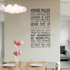 quote to decorate a room diy house rules quotes wall stickers vinyl letter decoration decal