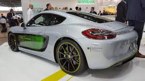 new porsche electric porsche cayman e volution ev displayed at electric vehicle