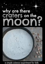 simple science experiment for kids why are there craters on the