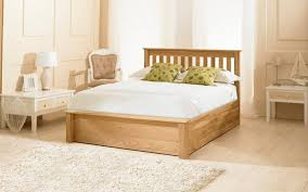 Oak Bed Frame Emporia Monaco 5ft Kingsize Solid Oak Ottoman Bed Frame By Emporia