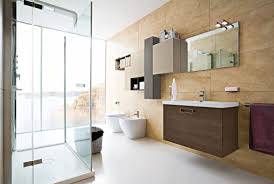Modern Bathroom Interior Design Inviting Modern Bathroom Interior Design With Brown Furniture