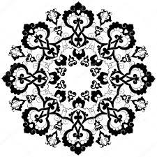 black oriental ottoman design thirty three u2014 stock vector