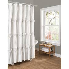 bathroom curtains for windows ideas white bathroom with dark chocolate accents and two shower curtains
