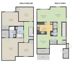 floor plan home design modern style house plan 4 bedroom double