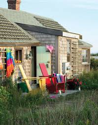 big color in a tiny house nantucket cottage style
