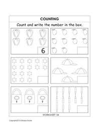 ukg kindergarten worksheets kindergarten counting worksheets