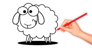 to draw shaun the sheep colours for kids with timmy time