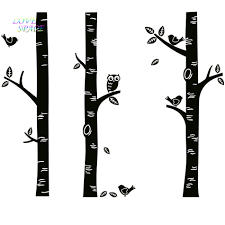 Wall Mural White Birch Trees Owls And Trees Baby Promotion Shop For Promotional Owls And Trees