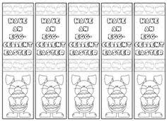 printable easter bookmarks to colour easter bookmark templates happy easter 2018