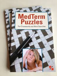 medical terminology crossword and word search puzzle book by