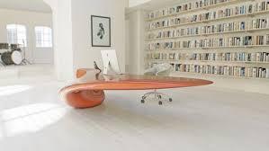 Futuristic Office Desk Home Interior Design Astonishing Futuristic Bright Office Desk