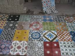 moroccan interiors cement tiles