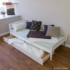 Single Storage Beds 3ft Single Storage Bed Solid Wood Bed Frame Pull Out Trundle Bed