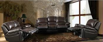 Recliner Leather Sofa Set Impressive Genuine Leather Reclining Sofa Sherwood Genuine Leather