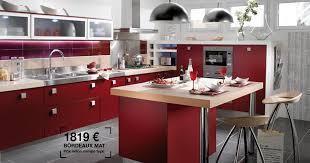 cuisine lapeyre tandem couleur bordeaux mat prix 1819