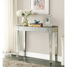 mirrored console vanity table mirrored console dressing table one large drawer