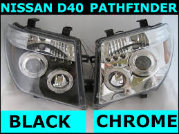 nissan d40 accessories uk black led projector headlights for nissan navara d40 pathfinder