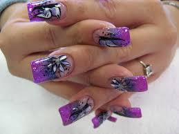 5 compelling purple nail design for wedding purple nail designs