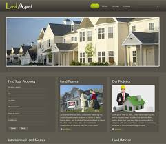 free website template css html5 land agent real estate mobile