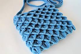 pattern of crochet stitches crochet crocodile stitch bag pattern no 017 zoom yummy