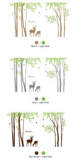 Vinyl Tree Wall Decals For Nursery by Deer And Large Tree Wall Decals Wallstickery Com