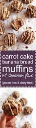 carrot cake banana bread muffins with cinnamon glaze gf df