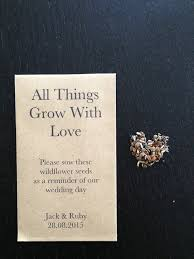 wedding seed favors flower seeds wedding favors wedding corners