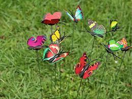 24 pcs set garden ornament colorful butterfly yard