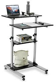Stand Up Computer Desk Adjustable Mount It Mobile Stand Up Desk Height Adjustable