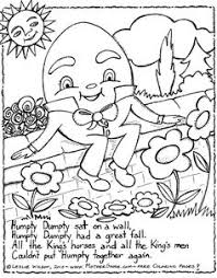 nursery rhymes coloring pages w cute graphics maybe give to