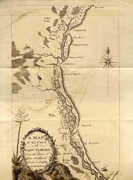Map East Coast Florida by William Bartram 1739 1823 Travels Through North U0026 South Carolina