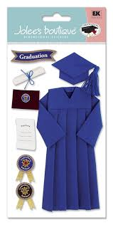 blue cap and gown jolee s boutique cap and gown stickers blue