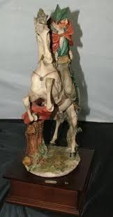 Capodimonte Tramp On A Bench Capodimonte Sculpture Figurine Giuseppe Armani Napoleon On Horse