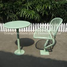 outside chair and table set welded wire mesh outdoor chair and table set metal coffee table set