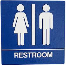 bathroom sign the interior designs