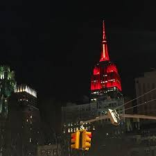 empire state building lights tonight brucepask tonight the empire state building lights in scarlet