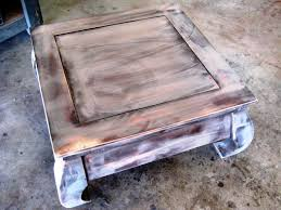 How Tall Should A Coffee Table Be by How To Paint And Stencil An Old Wood Table How Tos Diy
