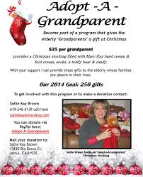 adopt a grandparent program help give the elderly a gift for