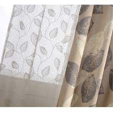 modern french leaf white lace curtains