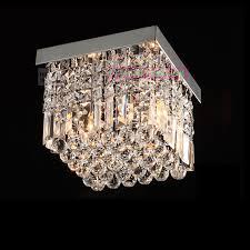 chrome flush mount light contemporary crystal flush mount crystal ceiling lighting elegant